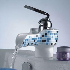 $42.99 Stylish Mosaic Pattern Ceramic Bathroom Faucet
