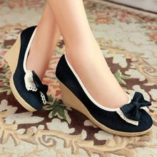 Discount Size 34 Sweet Ladies Pumps Autumn Closed Toe Denim Basic Platform Wedges Women's Butterfly Knot Lace Blue Shoes CC00     Tag a friend who would love this!     FREE Shipping Worldwide     #Style #Fashion #Clothing    Get it here ---> http://www.alifashionmarket.com/products/discount-size-34-sweet-ladies-pumps-autumn-closed-toe-denim-basic-platform-wedges-womens-butterfly-knot-lace-blue-shoes-cc00/