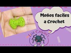 Moños a Crochet fáciles (2) - YouTube Canal E, Blog, Etsy, Youtube, Easy Crochet, Hacks, Amigurumi, Patrones, Accessories