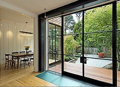 """Malcolm Davis architect-  """"... metal frame windows & doors-they work in both traditional & contemporary interiors..."""""""