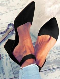 6e9e35cfe16e37 Flocking Pumps Sandals Casual Comfort Adjustable Buckle Shoes No reviews