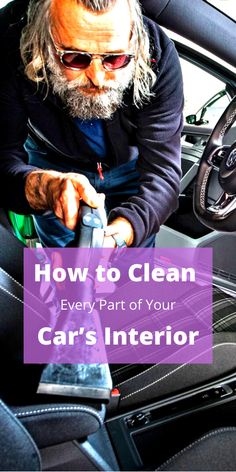 From the steering wheel to carpet and the best products to use, here's everything you need to know about how to clean your car's interior. Wash Car At Home, Clean Your Car, Exotic Cars, Luxury Cars, Carpet, Notes, Cleaning, Interior, Products