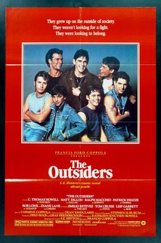 The Outsiders (1983)   25 Movies From The '80s That Every Kid Should See -YYYAAAAA!!!!!!!!