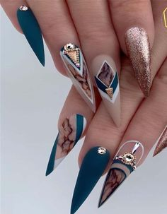 101 Want to see new nail art? These nail designs are really great Page acrylic nails designs; acrylic nails almond Nails 101 Want to see new nail art? These nail designs are really great Page 19 Almond Acrylic Nails, Cute Acrylic Nails, Acrylic Nail Designs, Cute Nails, Pretty Nails, My Nails, Prom Nails, Weird Nails, New Nail Art
