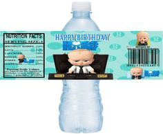 BOSS BABY Water Bottle Labels instant download, DIY Printable Boss Baby Party Water Bottle Label, Boss Baby Water label, Boss Baby Birthday