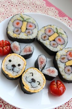 Spring Kazari Makizushi, Decoration Sushi Rolls|春の飾り巻き寿司