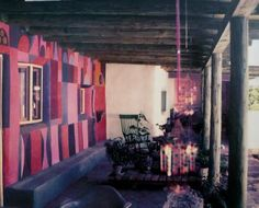 Alexander Girard's home, Santa Fe, 1953 Danish Modern, Midcentury Modern, Interior And Exterior, Interior Design, Color Interior, Alexander Girard, Natural Building, World Of Color, Mid Century Modern Design