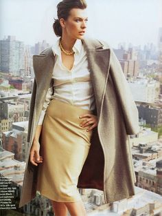 Milla Jovovich in Town & Country - absolute fall inspiration