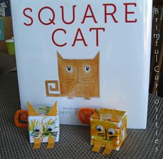Brimful Curiosities: Square Cat by Elizabeth Schoonmaker - Review and Blank Block Art