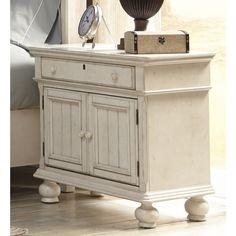 Laguna Antique White 2-door Nightstand - Overstock Shopping - Great Deals on Nightstands