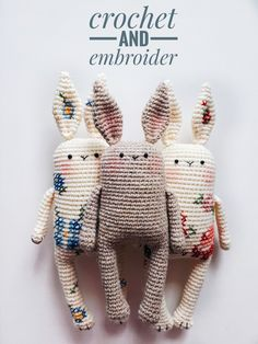 crochet projects for beginners simple Amigurumi bunny pattern by sasha koffer Kawaii Crochet, Crochet Bunny, Crochet Animals, Knit Crochet, Amigurumi Patterns, Knitting Patterns, Crochet Patterns, Amigurumi Tutorial, Amigurumi Doll