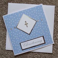 Handmade Christening Card (Blue) £1.50