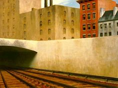 Edward Hopper - Approaching a City - 1946 - The Phillips Collection, Washington D. Hopper's somber, muted palette eliciting an uneasy uncertainity in Approaching a City American Realism, American Artists, American Life, Toulouse, David Hockney, Edward Hopper Paintings, Robert Rauschenberg, Oil Painting Reproductions, Urban Landscape