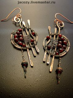 Earrings handmade.  Fair Masters - handmade copper earrings lunar eclipse.  Handmade.