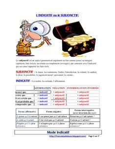 L'indicatif et le subjonctif