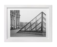 Large Wall Art, Black and White Paris Print, The Louvre, Parisian Architecture Fine Art Photography,Classic, Iconic Print for Gallery Wall