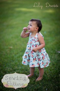 Lily Halter Dress (Sizes 9/12 mos to Size 6) Sewing E-Pattern and Tutorial. $6.00, via Etsy.