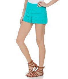Short feminino  Com camadas  Zíper lateral  Marca: Blue Steel  Tecido: chiffon  Composição: 100% poliéster  Modelo veste tamanho: P         COLEÇÃO INVERNO 2015       Veja outras opções de    shorts femininos.