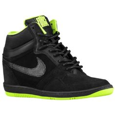 Nike Force Sky High - Women's - Black/Volt/Black