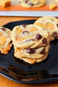 Zachte chocoladekoekjes met gezouten karamel
