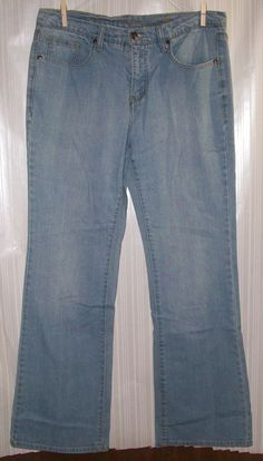 FADED GLORY Ladies Size 12 Blue Jeans #FadedGlory #Flare