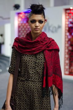 Wear About at India Fashion Week 2013 - that hair and makeup!! fab!