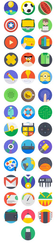 Give a fresh look to your next project with these colorful icons. This pack contains 40 pixel perfect icons that are built with vector shapes so you can easily change their color and size. Mintie Icons is a project created by Darius Dan and Oliviu Stoian. Vector Shapes, Vector Icons, Vector Free, App Design, Icon Design, Flat Design, Instant Loans Online, Graphic Illustration, Flat Icons