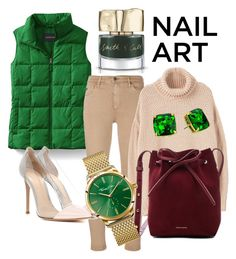 """""""set #10"""" by mayaop on Polyvore featuring beauty, Lands' End, AG Adriano Goldschmied, Smith & Cult, MANGO, Gianvito Rossi, Mansur Gavriel, Thomas Sabo and Kate Spade"""