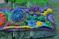 freeform crochet headband   Crochet - freeform   Pinterest