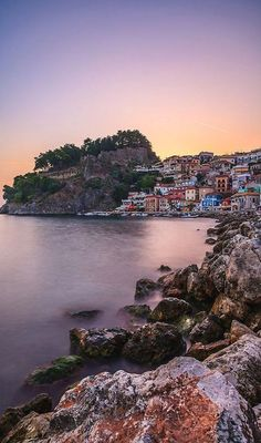 Greece, The harbour of Parga a town located in the northwestern part of the regional unit of Preveza Epirus Oh The Places You'll Go, Places To Travel, Places To Visit, Beautiful World, Beautiful Places, Places In Greece, Greek Isles, Thessaloniki, Greece Travel