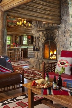 A cozy Log Cabin Den