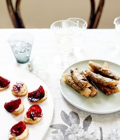 Australian Gourmet Traveller recipe for crostini with smoked eel pâté and glacé…
