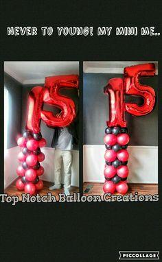 #ballooncolumns #Balloon numbers www.facebook.com/topnotchballooncreations/