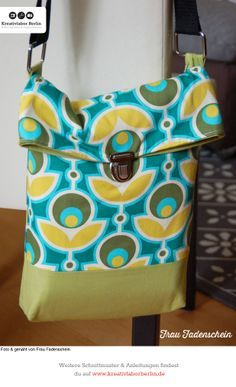 """Tasche """"Fred"""", zum Schnittmuster: http://www.kreativlaborberlin.de/naehanleitungen-schnittmuster/umhaengetasche-fred/"""