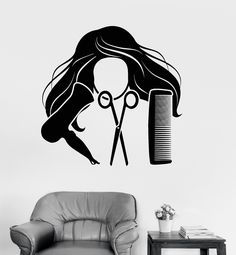 Vinyl Wall Decal Hair Salon Stylist Hairdresser Barber Shop - Custom vinyl wall decals for hair salonvinyl wall decal hair salon stylist hairdresser barber shop