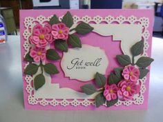 """Martha Stewart """"Vintage"""" border/corner punch set,flowers, the leaves, flowers and label are Spellbinders dies"""