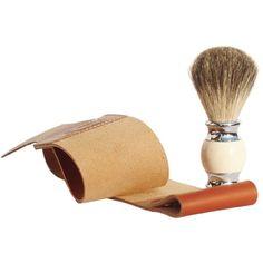 2pc/set Leather Shaving Strop and Steel HandleHair Shaving Brush
