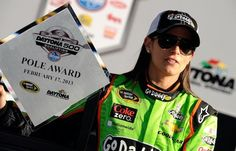 Danica Patrick became the first woman to win a Sprint Cup Series pole Sunday. (Getty)