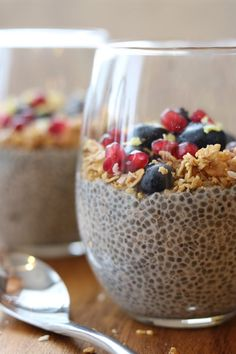 Maple-Vanilla Chia Pudding Parfait by Clean Eats & Treats