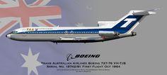 TAA Boeing 727 Profile Drawing
