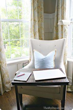 My favorite corner of the #house...my new #office with my world market laptop desk! #worldmarket