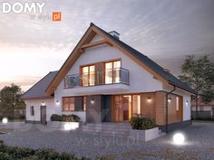 Wolta projekt domu - Jesteśmy AUTOREM - DOMY w Stylu Home Building Design, Building A House, Attic Bedrooms, Attic Design, Modern House Design, Home Fashion, My Dream Home, My House, House Plans