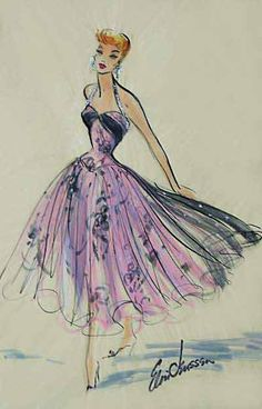 "A stunning lilac party dress from ""Forever Darling"" (1956) Design by Elois Jenssen"
