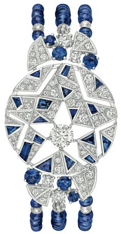Muse #Bracelet from #CafeSociety - #Chanel - #FineJewelry collection in 18K white gold set with #Diamonds and #Sapphires - July 2014 ---