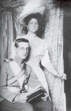 Empress Alexandra with Grand Duke Dimitri, Rasputin's murderer