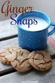 Ginger Snaps recipe from Served Up With Love are crunchy on the outside and perfectly chewy on the inside. Ginger Snaps Recipe, Ginger Snap Cookies, Best Grill Recipes, Bar Recipes, Supper Recipes, Sweet Recipes, Recipies, Snack Recipes, Cooking Recipes