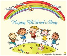 Illustration about Kids jumping with joy on a hill under rainbow, colorful cartoon. Illustration of drawing, illustration, good - 48710213 Kindergarten Clipart, In Kindergarten, Hello Songs Preschool, International Children's Day, Circle Time, Child Day, Creative Sketches, Happy Kids, Business Card Logo