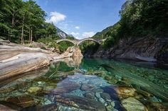 24 Fascinating Photos of Beautiful Places Around the World - valle verzasca, switzerland Places Around The World, The Places Youll Go, Places To See, Around The Worlds, Dream Vacations, Vacation Spots, Beautiful World, Beautiful Places, Amazing Places