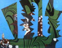 'Collage' (c.1950) by British artist Eileen Agar (1899-1991) Mixed media & paper collage, 51 x 63.5 cm. via Gwen Hughes Fine Art