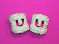 3-D Happy Marshmallow Tutorial (Rainbow Loom)